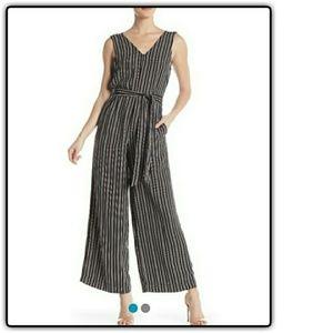 NWT Max Studio Stripe Crepe Jumpsuit XL